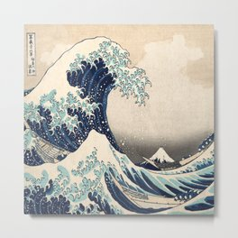 The Great Wave off Kanagawa by Hokusai Metal Print