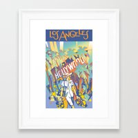 los angeles Framed Art Prints featuring Los Angeles by David Chestnutt