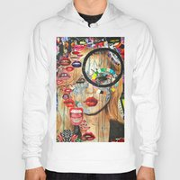 poker Hoodies featuring Poker Face by Katy Hirschfeld
