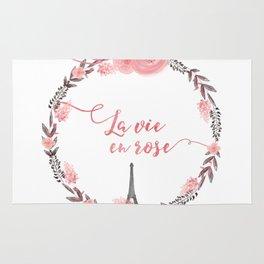 La Vie en rose Typography Rug