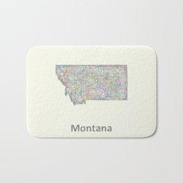 Montana map Bath Mat