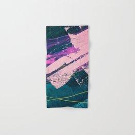 Wonder. - A vibrant minimal abstract piece in jewel tones by Alyssa Hamilton Art Hand & Bath Towel