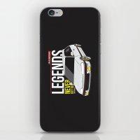 honda iPhone & iPod Skins featuring Honda Civic EF Hatchback by Nineties Customs