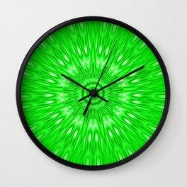 Green Mandala Explosion Wall Clock