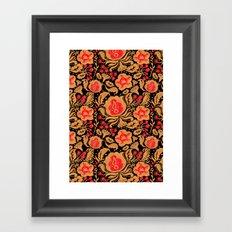 Khokhloma Kulture Pattern Framed Art Print