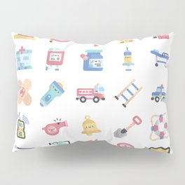 CUTE HERO JOBS / POLICE / FIREFIGHTER / DOCTOR PATTERN Pillow Sham