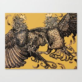Two Kings - Roosters Canvas Print