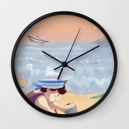 Boy On The Beach Wall Clock