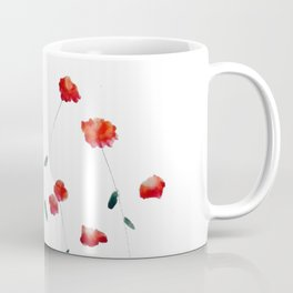 Red flowers in the snow Coffee Mug