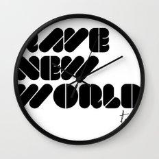 RAVE NEW WORLD Wall Clock