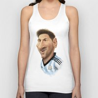 argentina Tank Tops featuring Messi - Argentina by Sant Toscanni