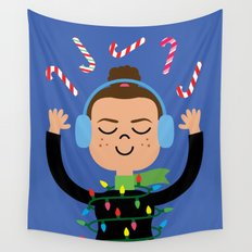 Holiday with Candy Wall Tapestry