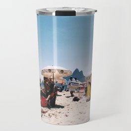 Ipanema beach in the middle of summer Travel Mug