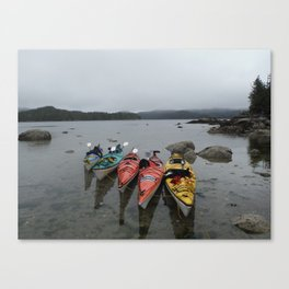 Kayaks in the Rainforest Canvas Print