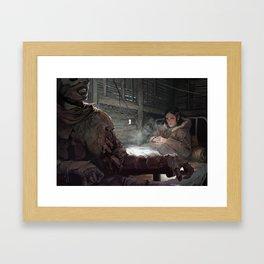 He Does Not Sleep Framed Art Print