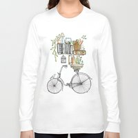 bicycle Long Sleeve T-shirts featuring Pleasant Balance by florever