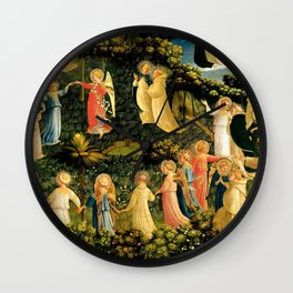 "Fra Angelico (Guido di Pietro) ""The Last Judgement, detail - The dance of the beatified"" Wall Clock"