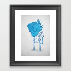 Guayaquil - Mr Iguana Framed Art Print