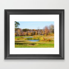 Fall at the Ponds Framed Art Print