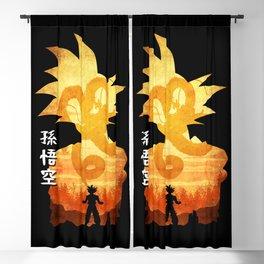 Minimalist Silhouette Goku Blackout Curtain