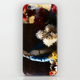 Mary among the flowers iPhone Skin