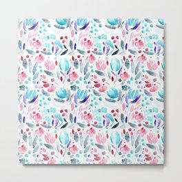 Floral vibes || watercolor Metal Print