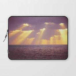 Golden Ray Over Sea Laptop Sleeve