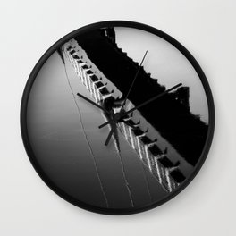 River Reflection of the Millennium Bridge, Lancaster Wall Clock