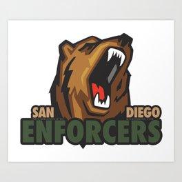 Enforcers New Logo Art Print