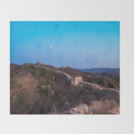 The Great Wall Moon Throw Blanket