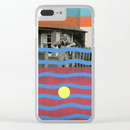 Stripey Farmer Clear iPhone Case
