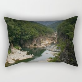 Ryuokyo Gorge Nikko Japan | Beautiful Waterfall River Photo Rectangular Pillow