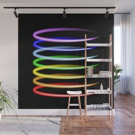 Neon rainbow light effects. Wall Mural