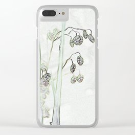 Trembling Grass 2 Clear iPhone Case
