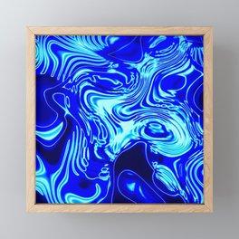 Where Lost Socks Go: Blue Swirled Abstract Framed Mini Art Print
