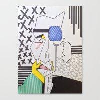 lichtenstein Canvas Prints featuring Homage to Lichtenstein by Alec_Misinkavitch