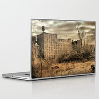cityscape Laptop & iPad Skins featuring Cityscape by The Strange Days Of Gothicrow
