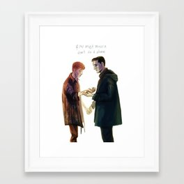 if you must mourn Framed Art Print