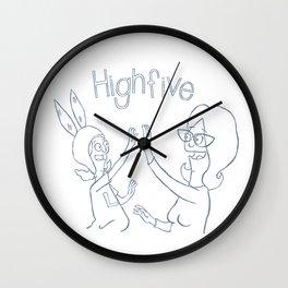 high 5 Wall Clock