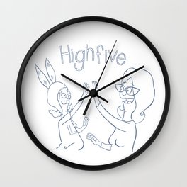 high 5 Wall Clock
