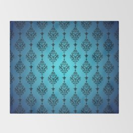 Skulls and Bats and Damask, Oh My! Throw Blanket