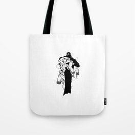 All Wounds Heal Time bw Tote Bag
