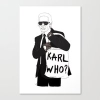 karl Canvas Prints featuring Karl by Les Gutiérrez