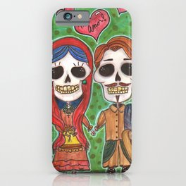 Te Amo Day of the Dead iPhone Case