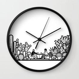 Chai and Cacti II Wall Clock