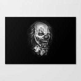 horror clown Canvas Print
