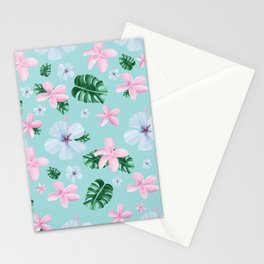Peaceful / tropical / flowers / leaves Stationery Cards
