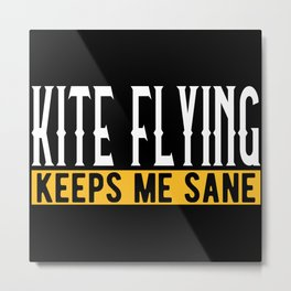 Kite Fly Lover Gift Idea Motif Metal Print