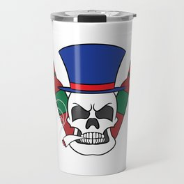 Fierce and creative skull tee design. Makes a nice and unique gift to your loved ones too!  Travel Mug