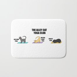 The Alley Cat Yoga Club Cat Lover Yoga Lover Design Bath Mat